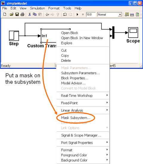 Simulink - Creating Masked Subsystems